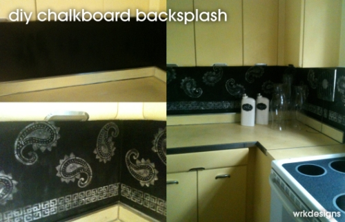 DIY Chalkboard Backsplash - WRKDesigns