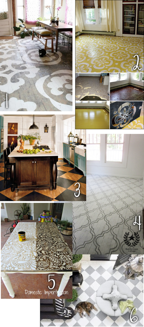 Eat-In Painted Floor Ideas - WRKDesigns